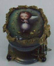 "One of a KInd Fedoskino Russian Lacquer Box ""Angel in the Swing"" by Shenshina"