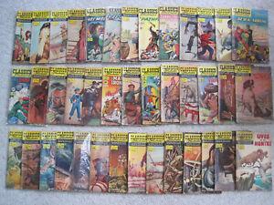 Vintage lot of 40 Classics Illustrated comics