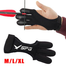 Spg Archery Gloves 3 Finger Tab Guard Bow Shooting Protector Accessories