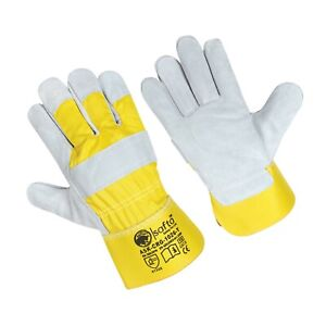 Mens Gardening Gloves Thorn proof, Cow leather work gloves for Rigger & Builders