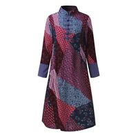 BOHO HIPPY GYPSY VINTAGE LOOK FLORAL PRINT DRESS SIZES 10 12 14 16 18 20