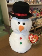 Ty Twigs -White Holiday Snowman Beanie Baby! *Retired* Rare & Vhtf!