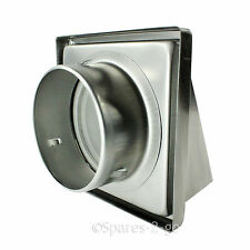 """Stainless Steel Wall Air Vent Cowled Hooded Extractor Outlet Non Return Flap 5"""""""