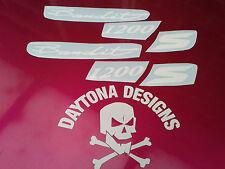 BANDIT 1200 S CUSTOM DESIGN FAIRING SEAT WHITE DECALS STICKERS GRAPHICS