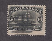 Newfoundland Sc 59 used 1887 10c black Schooner, almost VF
