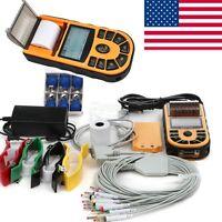 Fast Ship Handheld Single 1 Channel ECG EKG Machine PC Software Printer FDA CE