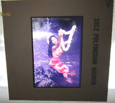 Vintage 1960s Hawaii Vacation Nude Polynesian Maiden Girl Color Photo Slide 35mm