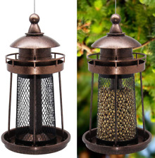 New listing Wild Bird Feeder Hanging for Garden Yard Outside Decoration Lighthouse Shaped