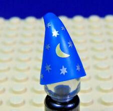 long flat brim job lot of 10 LEGO Minifigures blue cap 4485 b