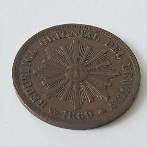 Coin Uruguay 1 Centesimo 1869 A Paris Beautiful Coin