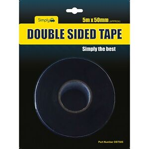 DST505 - TAPE DOUBLE SIDED 50MM X 5 MTR. SIMPLY