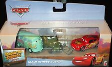 Disney CARS Radiator Springs MAIN STREET EVENT Gift 3 Pack Set McQueen w/ Shovel