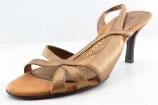 Naturalizer Slingback Sandals Gold Leather Women Shoes Size 8 Medium (B, M)