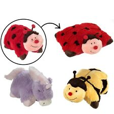 3 Pillow Pets Set Stuffed Animal Large Plush Kids Toys Ladybug Bee Unicorn 18""