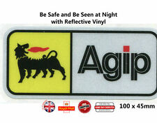 Agip Motorcycle Helmet Sticker Decals Laminated Reflective Vinyl 100mm N024