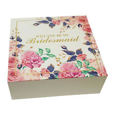 Will You Be My Bridesmaid Proposal Box Set of 5 Pack Gift Boxes Wedding Marriage