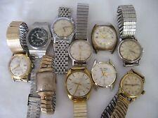 Lot of 10 vintage Men's wristwatches Hamilton Kaltron Orvin Gruen Swiss Incabloc