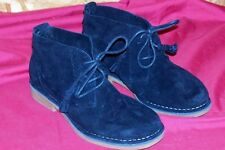 Womens Size 7 Wide Hush Puppies Boots Black Suede Cyra Catelyn Shoes W 7W Ladies