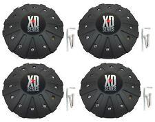 """4x KMC XD Series Black Custom Wheel Center Hub Cap 8 1/8"""" for XD778 Monster Rim"""