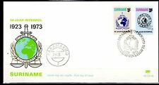 Suriname - 1973 50 years Interpol - Clean unaddressed FDC!