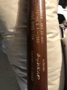 BABE RUTH LOUISVILLE SLUGGER 125 COMMEMORATIVE CAREER STATS BASEBALL BAT YANKEES