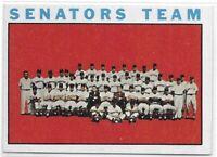 1964 Topps Washington Senators Team Card No. 343 Very Sharp!