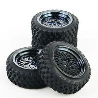 RC 4Pcs 1:10 Rally Tires&Wheel 12mm Hex For HSP HPI Off Road Racing Model Car