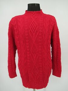 M9884 VTG Express Hand Cable-Knitted Pullover Sweater Size L/3