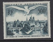 BIRDS : FRANCE 1947 500F Airmail UPU Herring Gull SG1013 MNH