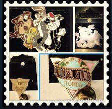 Universal Studios Pins 1group Pin Bugs Taz Tweety Cat Big Pin 90S 1- Florida Pin