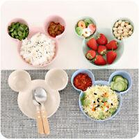 Children Cartoon Mouse Head Kids Bowl Plate Dish Baby Feeding Tableware