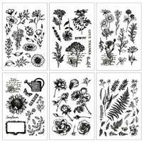 Flower Leaves Clear Stamp Transparent Silicone Seal DIY Scrapbooking Photo Craft