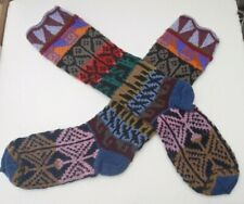 UNISEX ALPACA & MIXED FIBERS  LONG SOCKS FROM PERU *MULTI COLOUR Soft & Warm