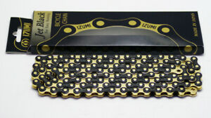 IZUMI Jet Black 1/2x1/8x116L Bicycle Chain (Gold)
