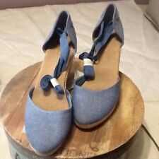 Old Navy,  Blue Wedge Shoes Size 10