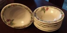 """8 Pfaltzgraff  JAMBERRY 7 1/4"""" Rimmed Soup  Cereal Bowls Cherries/ Berries"""