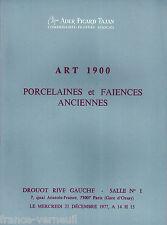 Catalogue de vente Ader Art Nouveau 1900 Deco Pate de verre Galle Daum 1977
