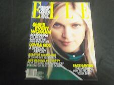 2001 FEBRUARY ELLE MAGAZINE - MADONNA FRONT FASHION COVER - O 6923