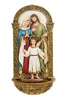 Joseph Studio Renaissance Holy Family Water Font Catholic Wall Decoration 62885
