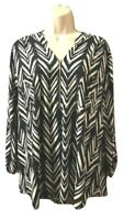 Carolyn Taylor Women's Blouse Plus Size 3X Front Zip Pullover Top
