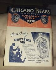 10/20/35 BROOKLYN DODGERS @ CHICAGO BEARS NFL PROGRAM BEARS 24-14 BEFORE 18000!