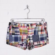 American Eagle Outfitters Favorite Fit Plaid Patchwork Madras Mini Shorts 2 XS