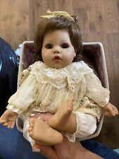 Vintage Reborn Baby Doll Brunette Hair Connoisseur Mann Seymour