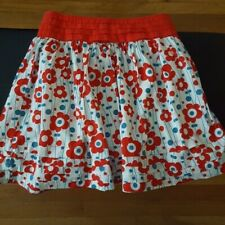 Forever 21 Women's Size Medium Red Blue Multicolor Floral Print Skirt Casual