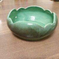 Vintage Covina Pottery Planter Green 131 Mid Century California Scalloped Rim