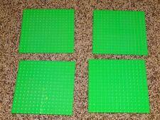 "Lot of 4 LEGO Base plates green 16x16 dot 5""x5"" square base plate"