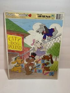 "1986 Golden Frame Tray Puzzles ""Pound Puppies"" Magic Show Ages 3 to 7"