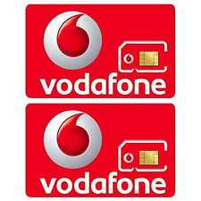 2x OFFICIAL Vodafone Pay As You Go PAYG Triple Cut Standard Micro Nano SIM Card