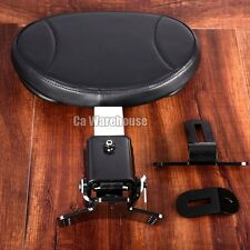 CA Adjustable Plug-In Driver Rider Backrest For Harley Touring FLTR FLHX 97-17