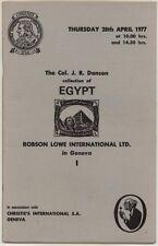 Egypte, le colonel j.r. danson collection, 1977 enchères catalogue